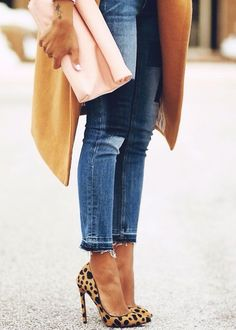 These Manolo Blahnik Pumps are some of Spring's most gorgeous designer shoes!  Wait but these jeans!