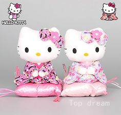 Hello #kitty japanese #kimono sit down #plush toy soft stuffed doll 7'' kids gift,  View more on the LINK: http://www.zeppy.io/product/gb/2/121814120882/