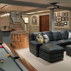 Traditional Basement Design, Pictures, Remodel, Decor and Ideas