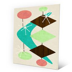 "Click Wall Art Bang Bang Boomerang Graphic Art on Plaque Size: 14"" H x 11"" W x 0.04"" D"