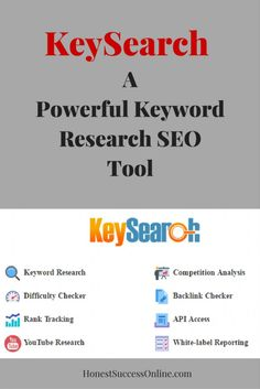 KeySearch -A Powerful Keyword Research SEO Tool. Read more in my post what KeySearch can do for you. Youtube Tags, Tube Youtube, You Youtube, People Videos, Youtube Search, Seo Tools, Blogging For Beginners, Research, Affiliate Marketing