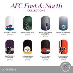 """Ready, set, wrap! That's right, Jamberry has collaborated with the NFL to bring you the NFL Collection by Jamberry! Just in time for football season.  you  can now literally """"sport"""" your favorite NFL team on your nails."""