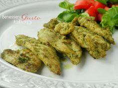 Bocconcini di Pollo al pesto di Basilico, teneri bocconcini petto di pollo ricchi di sapore, al pesto di basilico, ricetta facile e veloce. Secondo piatto