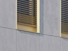 EQUITONE is the world´s leading brand in ventilated facade (rainscreen) systems. Cladding Materials, Double Skin, Modern Windows, Building Facade, Facade Architecture, Windows And Doors, Blinds, Concrete, Coach House