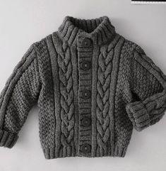 Knitting Patterns Boys, Baby Boy Knitting, Baby Cardigan Knitting Pattern, Knitted Baby Cardigan, Knit Baby Sweaters, Boys Sweaters, Knitting For Kids, Knitting Designs, Free Knitting