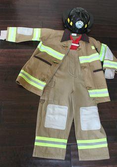 Boys Girls Toddler Kids TEETOT Size 3+ Fireman Fire Fighter Costume Halloween | eBay