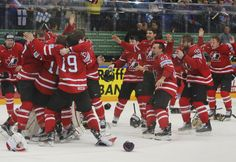 Team Canada celebrates world hockey gold for the second straight year. Team Canada golden at world hockey championship as Connor McDavid's first goal of the tournament was the winner in Moscow. - May 22, 2016