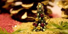 Náušnice – 3D vánoční stromečky Diy Jewelry, Flora, Xmas Ideas, Fruit, Beads, Christmas, Wire, Beading, Xmas
