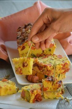 Cake courgettes tomates confites et saucisse