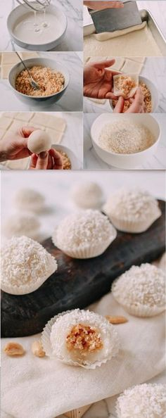 #Coconut #Peanut #Mochi, #nuo-mi-ci #糯米糍 recipe by the Woks of Life #Chinese