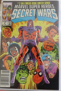 Secret Wars # 2 with a great cover from Mike Zeck.  For more on this Limited Series, go to http://thecosmiccomicbookbroadcast.blogspot.com/2015/06/the-34th-cosmic-comic-book-broadcast.html