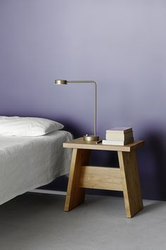 Can be used as stool or side table: LANGLEY by David Chipperfield in solid oak. / www.e15.com #e15 #chipperfield #solidwood