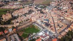 A panoramic-aerial view of Santarcangelo di Romagna a medieval town in Emilia-Romagna   <><><><><><><><><><><>  Do you like this photo!?  Please share like and comment…