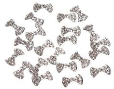 Aokdis 20x 3D Alloy Butterfly Bow Tie Glitters Slices For Nail Art Tips DIY Decorations