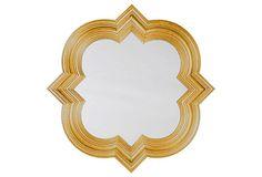 Quatrefoil Mirror, Gold on OneKingsLane.com