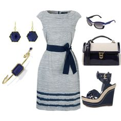 Navy & Gold, created by rebecca-horn on Polyvore
