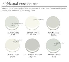 Best Neutral Paint Colors (whites, grays, light green/blue)