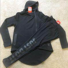 Nike Tech Fleece Women's Hoodie with Leggings Nike Tech Fleece Full-Zip Women's Hoodie (S) Black. Full Legged Leggings (M) Brand New w/ Tags Nike Tops Sweatshirts & Hoodies