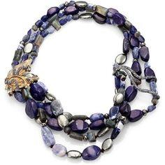 Alexis Bittar Elements Phoenix Sodalite, Blue Aventurine, Labradorite & Pyrite Tressage Necklace.  Find on saksfifthavenue.com
