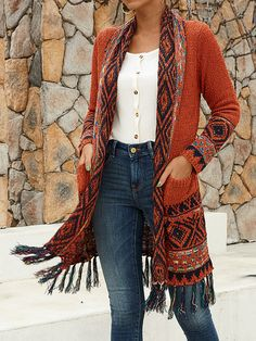 Cowgirl Chic, Make Money Now, Ethnic Patterns, Clothes For Sale, Tassels, Kimono Top, Womens Fashion, Long Sleeve, Groomsmen