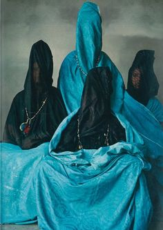 Veiled Mystery of MoroccobyIrving Penn* inVogue, December 1971 [and one of my favourites:Two Guedras] thanks toThe Polyglot