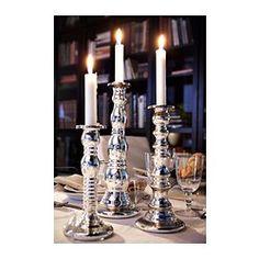 IKEA - SKIMMER, Bougeoir, Soufflé à la bouche ; chaque bougeoir est réalisé par un artisan qualifié.