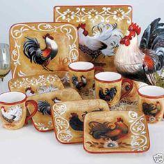 Golden Rooster Dinnerware