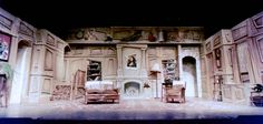 Theatre set painting « Trompe l'oeil, Graphics and Art This is the kind of coloring that I am thinking of for Cinderella's house