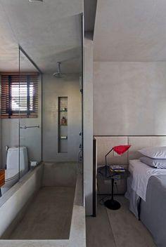 Real Parque Loft by Diego Revollo - Design Milk Bathroom Design Luxury, Home Interior Design, Interior Architecture, Design Bedroom, Loft Decorado, Loft Design, House Design, Villa Design, Design Hotel