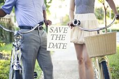 """His and Her bikes and """"Save The Date"""""""