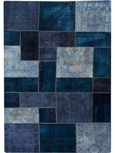 Renaissance – Blue is a hand-knotted, hand stitched and made out of wool.  It is an old & semi-antique rug that has been restored, over-dyed, and has more than 70% female involvement in the creation process. Made in India.