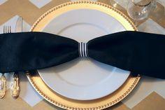 mint love social club: {diy simple bow tie table setting}