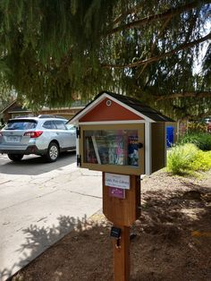 Another cute mini-me with matching siding, a 3D printed vent and solar lighting, this little free library was installed on North Armin Avenue in Deer Park, WA. Built by Little Library Builder of Spokane! www.littlelibrarybuilder.com Little Free Libraries, Little Library, Free Library, Deer Park, Armin, Solar Lights, 3d, Lighting, Printed