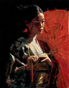 Fabian Perez Limited Edition Giclee on Canvas Michiko ...
