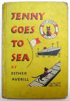 Jenny Goes to Sea Vintage Children Esther Averill Black Cat Linsky 1957 HB   eBay