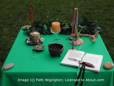 Setting Up Your Beltane Altar: If the weather is good enough, try to get outside for your Beltane celebration.
