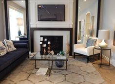 Image result for minimalist frame in white marble around a fireplace