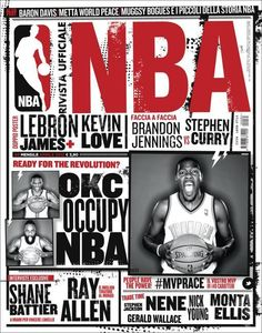 Rivista Ufficiale NBA - Covers 2011/12 by Francesco Poroli, via Behance