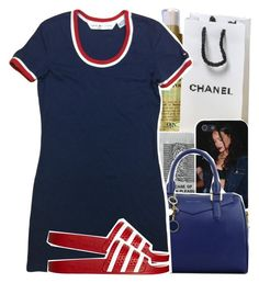 """""""Untitled #1007"""" by chynelledreamz ❤ liked on Polyvore featuring Organix, CHARLES & KEITH and adidas Originals"""
