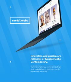 Design of the new identity & responsive website, and editorial content for Nanda\Hobbs Sydney's contemporary art gallery. Name Art, Commercial Art, Hobbs, Interactive Design, Contemporary Art, Art Gallery, Branding, Digital, Behance