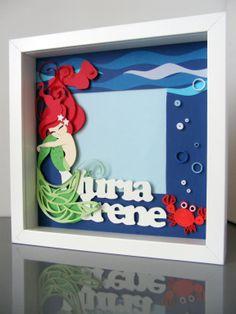 Quilling & Scrap Mermaid Sirena de papel by Qmono