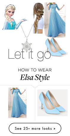 """""""Elsa"""" by celeenveronica on Polyvore featuring JustFab and Disney"""