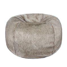 12a26f55c9 Helen Moore Faux Fur Giant Beanbag Truffle