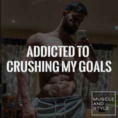 Double tap if you are addicted to crushing your goals too!!!!!!!!!!!!  : @danny_mccrory_fitness_wbff_pro