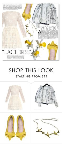 """Lovely Lace Dresses"" by dolly-valkyrie ❤ liked on Polyvore featuring Mode, Valentino, MDKN, Kate Spade und lacedress"