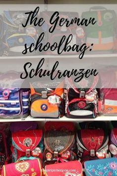 Schulranzen: the crazy expensive German school bag every school child has. New School Bags, School Bags For Girls, The New School, Germany For Kids, French School, Learn German, Rite Of Passage, Global Citizen