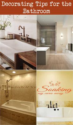 Decorating Tips for the Bathroom Beach Theme Bathroom, Bathroom Colors, Decorating Tips, Decorating Bathrooms, Towel Organization, Spa Items, Small Glass Jars, Decorated Jars, Neat And Tidy