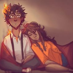 Leo Valdez and Piper McLean Percy Jackson Art