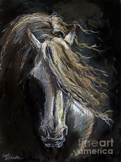 White Ghost by Angel Tarantella - White Ghost Painting - White Ghost Fine Art Prints and Posters for Sale