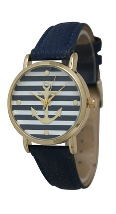 nautical stripe anchor watch //